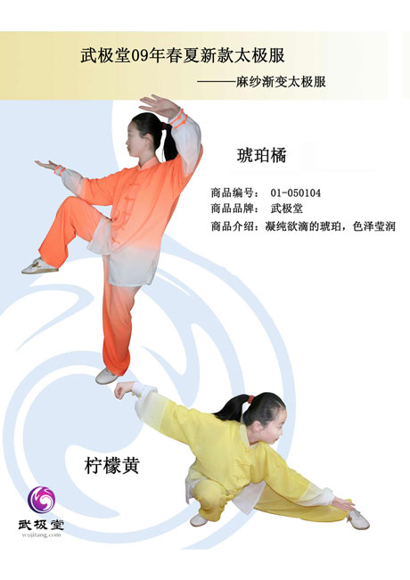 武极堂09年春夏新款太极服装-麻纱渐变太级服