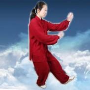 杨莓红 羽纶棉 太极服 太极服装 (武极堂推荐)