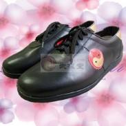 武极堂牛皮太极鞋 太极练功鞋 武术鞋-黑色(太极图款)