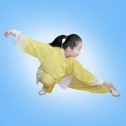 柠檬黄麻纱渐变太极服(停产下架)