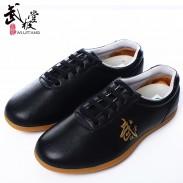 新款进口软牛皮太极鞋 真皮太极拳练功鞋 牛筋底 金武字 男女款