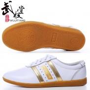 新款太极神韵 牛皮太极鞋 练功鞋 牛筋底白色 【已下架】